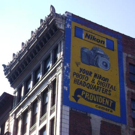 Provident Camera Ghost Sign in Downtown Cincinnati