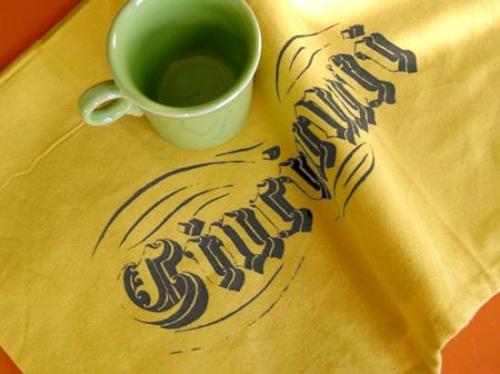 Cincinnati tea towel by VisuaLingual