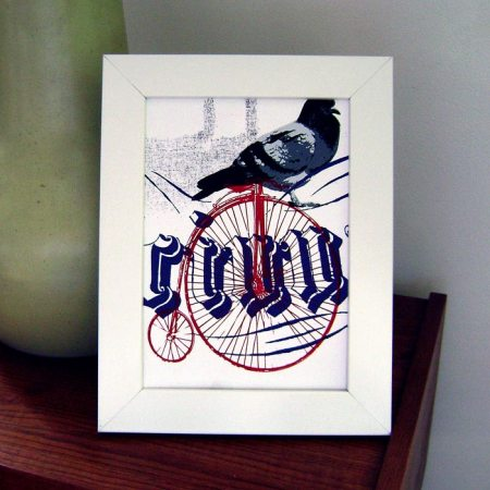 Victorian bicycle makeready print by VisuaLingual