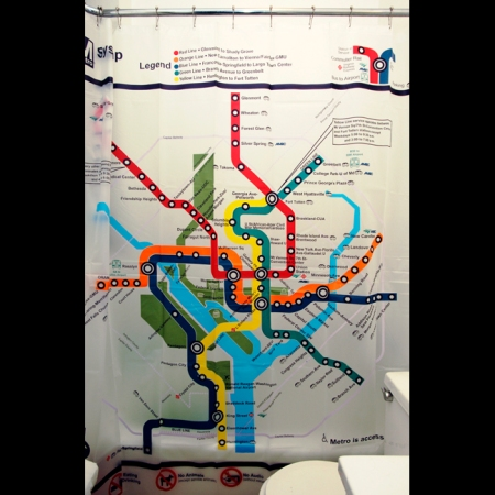Subway Map Shower Curtains