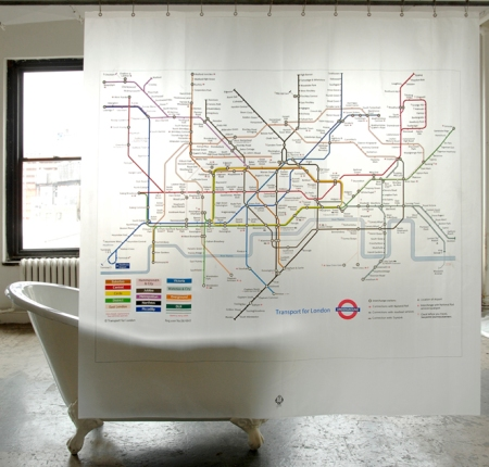 Subway Map Shower Curtains | Department of Everyday Visualingual