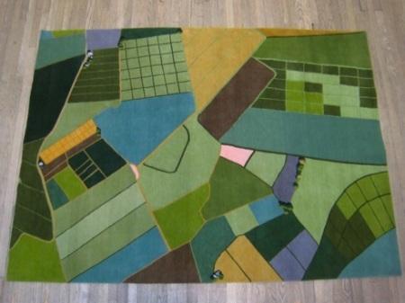 landscape rug by Liz Eeuwes