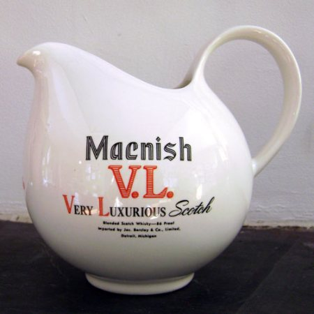 promotional pitcher for Macnish scotch by Eva Zeisel