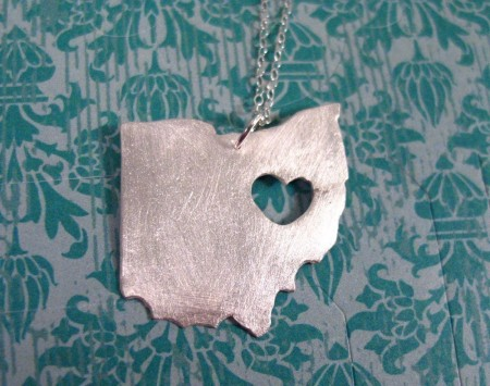 US State Pendant by Truche