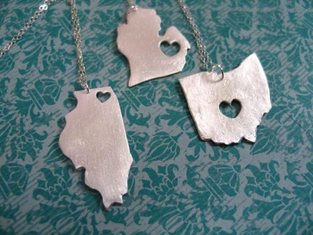 US State Pendants by Truche