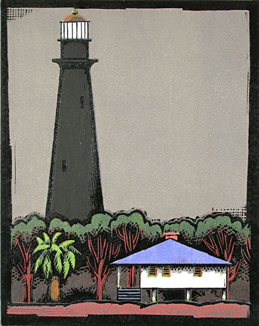 Lighthouse, Galvaston Bay by Lockwood Dennis