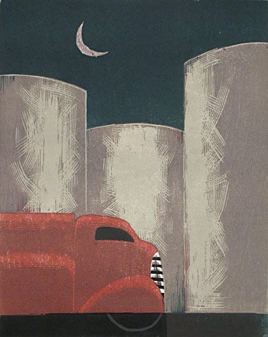 Moon, Oil Tanks by Lockwood Dennis