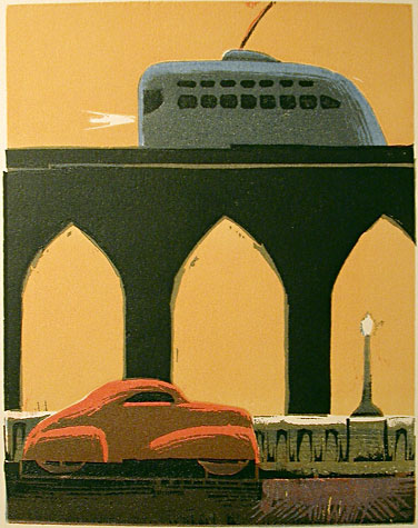 Viaduct, Trolley (Evening) by Lockwood Dennis