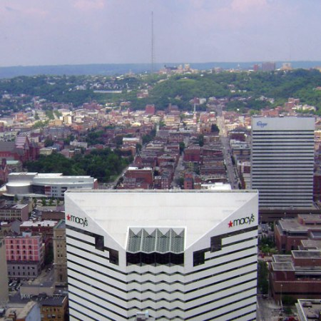 Over-the-Rhine seen from Downtown Cincinnati