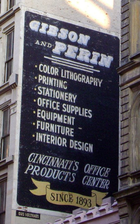 Gibson and Perin Ghost Sign in Downtown Cincinnati