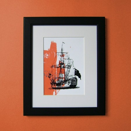 Pirate Ship make-ready print by VisuaLingual