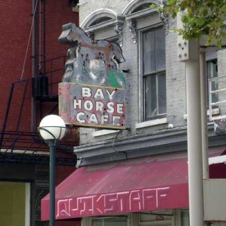 Bay Horse Cafe Ghost Sign in Downtown Cincinnati