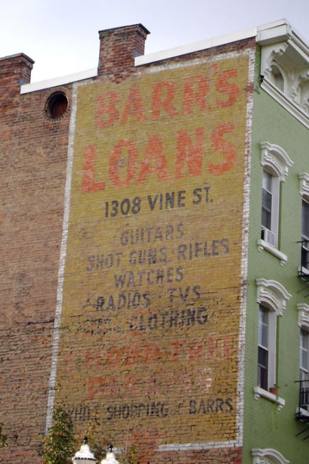 Barr's Loans Ghost Sign in Over-the-Rhine