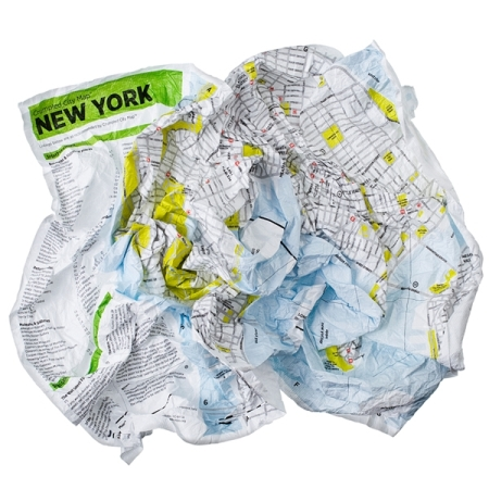 Crumpled City maps by Emanuele Pizzolorusso