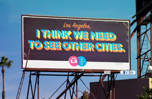 Los Angeles Break-Up Billboard by Jon Jackson