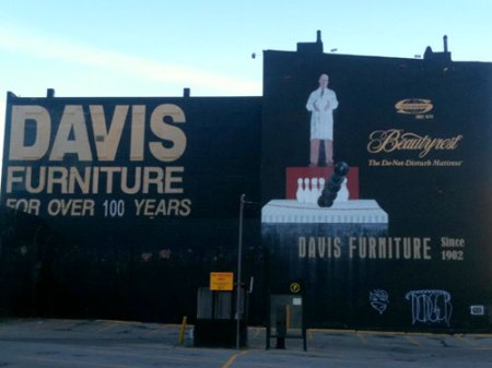 Davis Furniture Ghost Sign Cornucopia in Over-the-Rhine