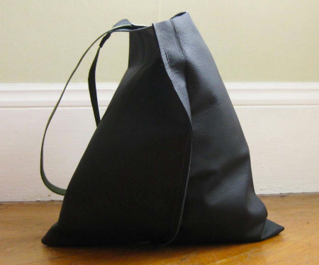leather tote by Scabby Robot