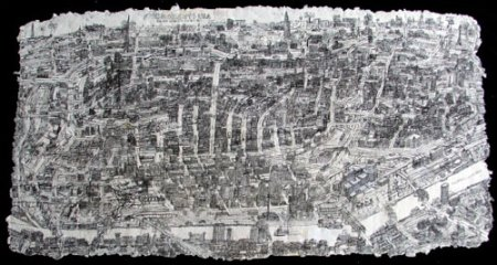 Cincinnati Drawing by Courttney Cooper