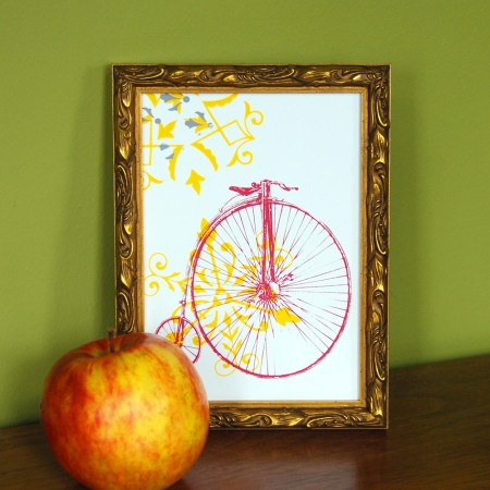 penny farthing make-ready print by VisuaLingual