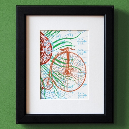 Penny Farthing print by VisuaLingual