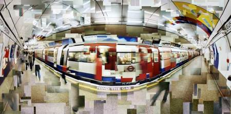 The London Underground (Euston Station) by Adrian Brannan