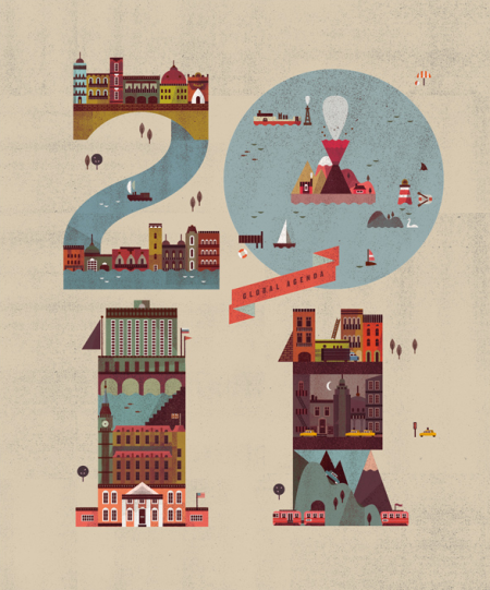 City Illustration by Lotta Nieminen