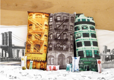 Build Your Block Brooklyn Pillows by Patrick Chirico