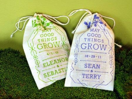 Custom Seed Bomb Wedding Favors