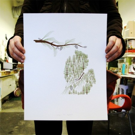 Michigan State Print by Amy Ruppel