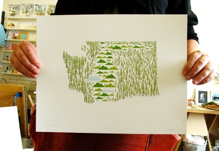 Washington State Print by Amy Ruppel