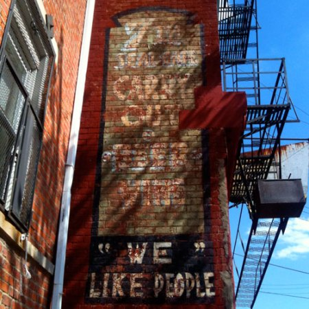 """We"" Like People Ghost Sign in Over-the-Rhine"