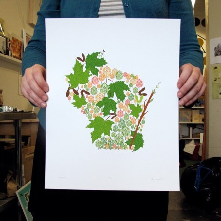 Wisconsin State Print by Amy Ruppel