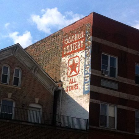 Bachia Bootery All Stars Ghost Sign in Chicago