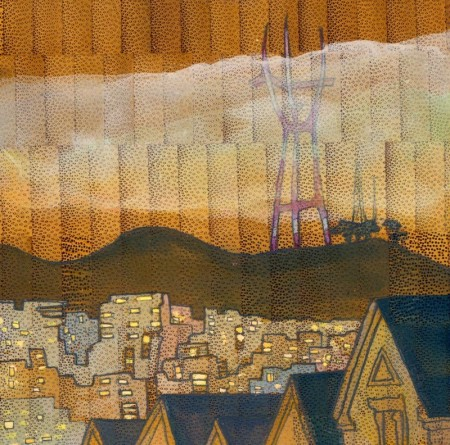 Painting of San Francisco by Chantal Felice