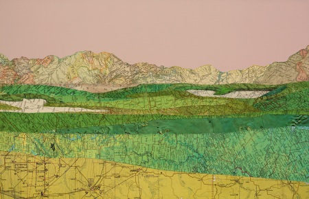 Map Collage by Matthew Cusick
