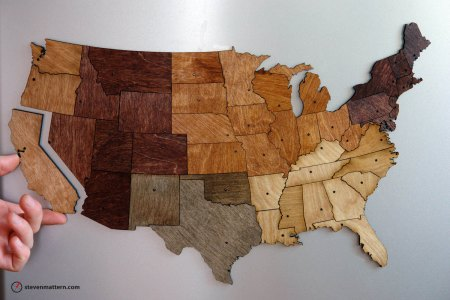Magnetic Geography Puzzle by Steven Mattern
