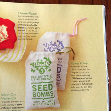 Seed Bombs in Martha Stewart Weddings