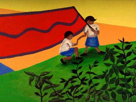 Peaslee Neighborhood Center Mural by Emily Storch
