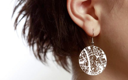 Streets earrings by Aminimal Studio