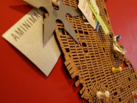 Manhattan corkboard by Aminimal Studio