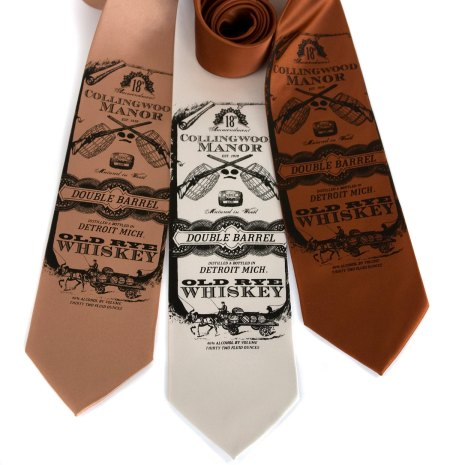 Whiskey Business tie by Cyberoptix Tie Lab