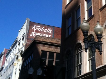 Kimball's Jewelers Ghost Sign in Knoxville