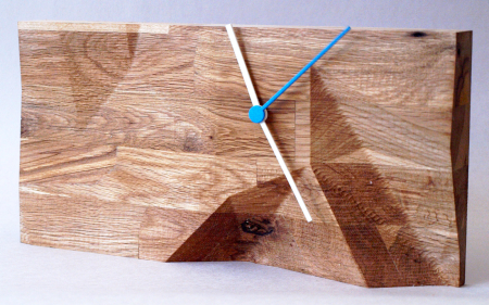 wood block clock by Such & Such