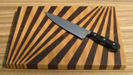 fan pattern cutting board by 1337motif
