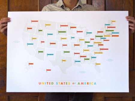 US map by These Are Things