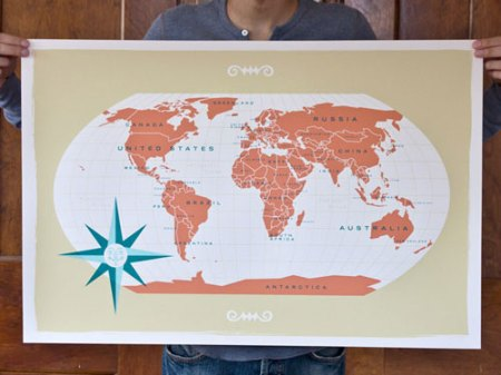 world map by These Are Things