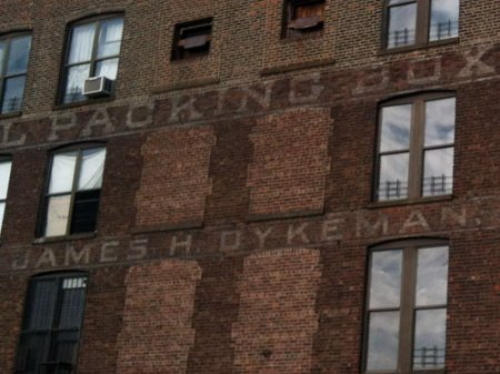 National Packing Box Factory Ghost Sign in Brooklyn