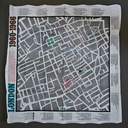 London Map Scarf by Herb Lester Associates