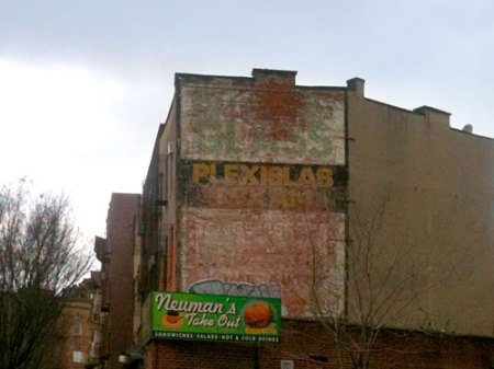 Plexiglass Ghost Sign in Brooklyn