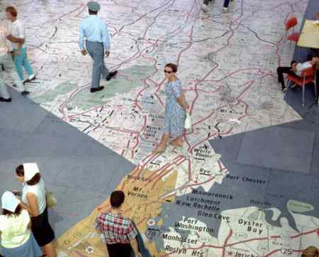 terrazzo map in the Tent of Tomorrow